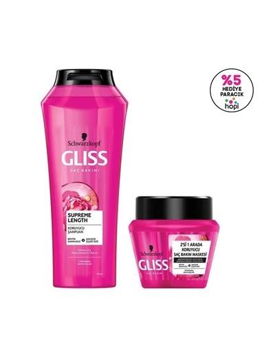 Gliss Supreme Length Uzun Saçlara Özel Bakım Seti (şampuan 500 Ml + Maske 300 Ml)  Renksiz